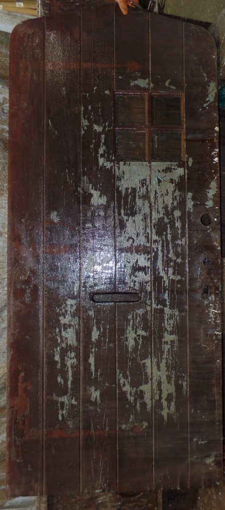 Solid Wood Door Paint Stripping Before MD
